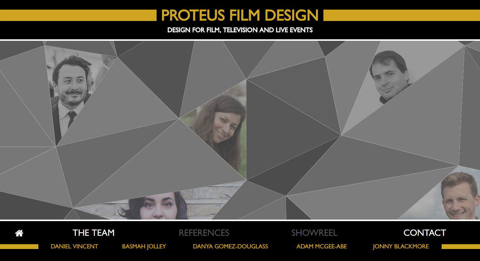 Proteus Film Design team weboldala 2