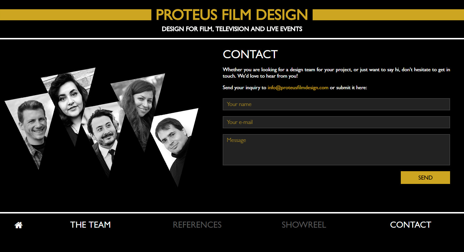Proteus Film Design team weboldala 4